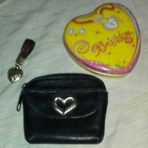 Brighton Leather Coin Purse Keychain & Tin
